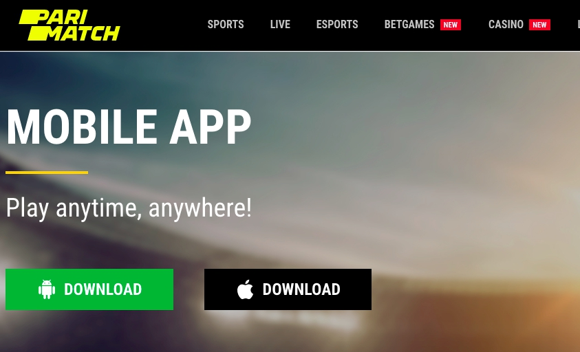 Mobile betting PariMatch for Android